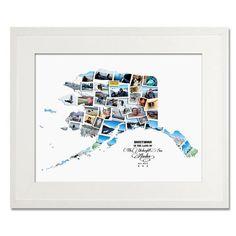 Alaska Wedding, Honeymoon & Anniversary Collage - Treasure on the Wall - 1