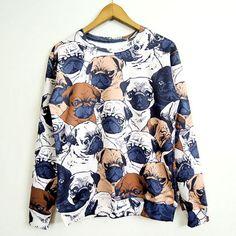 Nouveau automne pug animale pleine impression femmes hommes sweat 3D hoodies drôle mignon streetwear automne mode sweat - shirts tops gros