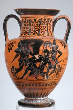 Etruscan black-figure amphora   c.550BC