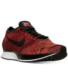 Nike Unisex Flyknit Racer Running Sneakers from Finish Line - Red 11.5