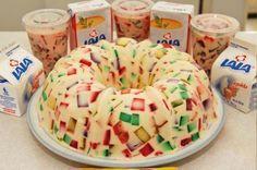 gelatina mosaico de piña.
