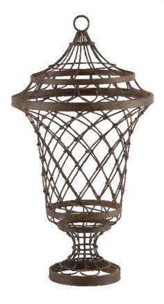 Pedestal Wire Urn - Aidan Gray - Bellissimo Decor Store