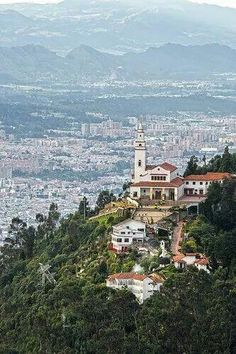 Guadalupe Hill is a hill located in Downtown Bogotá, Colombia. Next to the mountain of Monserrate. Photo Manuel Viejo © by Manu Viejo