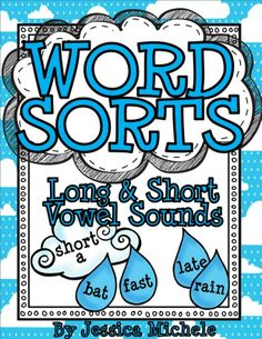 This set of cloud and raindrop themed long and short vowel sound sorting activities can be used in your classroom in a variety of ways and for a variety of learners! What's Inside: ~2 sorting clouds for each vowel (long or short) ~50 long or short vowel words {250 in all!} on raindrops for each vowel (most of the words are CVC, CCVC, CVCC, CVCV, or CVVC) ~5 long vowel spelling pattern posters (1 for each vowel) ~2 different student recording sheets to copy for your class $