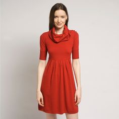"Qi New York Wool: ""Ruby Red Dress"" InStyle is loving this lady-like look for Fall."