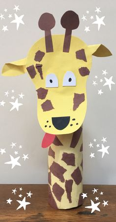 Loo roll craft giraffe