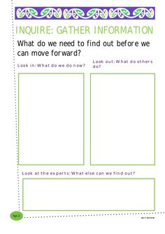 What do we need to find out before we can move forward?   SELF REVIEW   Page 10   Look out: What do others do?   Look at the e...