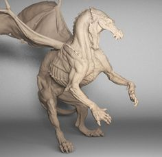 steve lord's dragon sculpt Terryfying, but wonderful in one Creature Concept Art, Creature Design, Fantasy Creatures, Mythical Creatures, Animal Sculptures, Sculpture Art, Dragon Anatomy, Cool Dragons, Modelos 3d