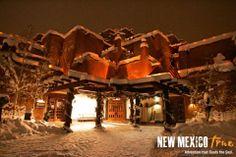 Farolitos in the snow!