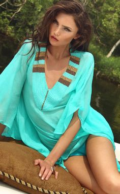 Aqua Beach Coverup By Zeugari - So Sexxxxxy!!!!!!!!