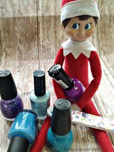 Elf on the Shelf Ideas: Elf Manicure #ElfOnTheShelf