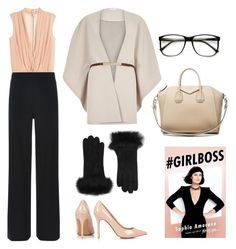 """""""#GirlBoss"""" by birkinsintheboardroom on Polyvore featuring Hobbs, River Island, Givenchy, Topshop, UGG Australia, women's clothing, women, female, woman and misses"""