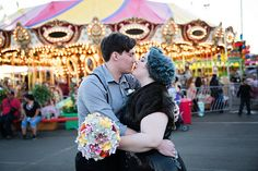 "Rachel & Jake's ""Water for Elephants"" state fair wedding as seen on @Offbeat Bride"