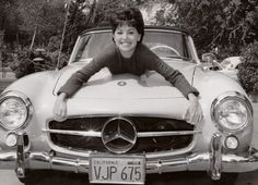 Famous People and Their Automobiles .That Girl , Marlo Thomas and Her 190 S L Benz...