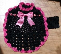 PDF Crochet Pattern for Ribbons and Roses Dog by ozarknomad, $4.50