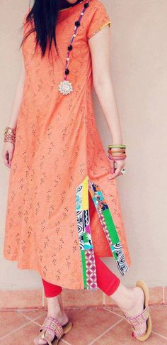 Color and simplicity Pich color #suit. indian fashion.
