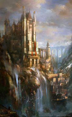 8e7df685e93d8b1b1bbb6d856e53aedc jpg 564×914 Fantasy art landscapes Fantasy castle Fantasy concept art