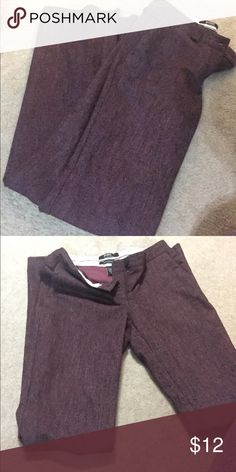 Burgundy wool dress pants, lined The Christie Fit, Body by Victoria - gently worn, size 4 but seem to run small, can't fit in them anymore - 53% wool, lined Victoria's Secret Pants Boot Cut & Flare
