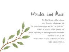 Wonder and Awe, The Gift of Holy Spirit