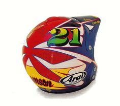 1993 Aria MX-Pro Helmet of Steve Lamson | Flickr - Photo Sharing!