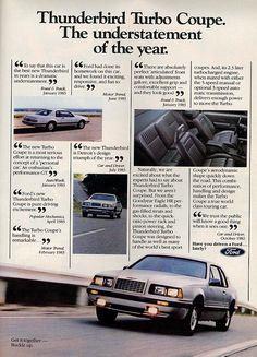 1984 Ford Thunderbird Turbo Coupe Ad