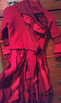 Red Riding Hood Childs Sweater Coat from by AyalaOriginals on Etsy