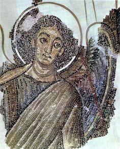 Архангел Гавриил Архангел Гавриил  Вторая четверть VI в.  Церковь Панагии Канакарии в деревне Литранкоми, Кипр  Фигура архангела располагалась слева от тронного изображения Богоматери с Младенцем в апсиде церкви.