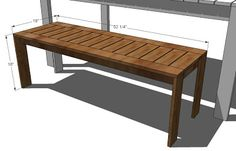 Ana White | Build a Build a Simple Outdoor Bench | Free and Easy DIY Project and Furniture Plans