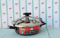 Vintage pressure cooker toy (by spacerocketstore)