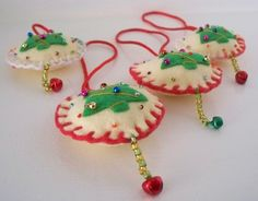 Felt Christmas Ornaments -  Felt Christmas Tree Hanging Ornament. $4.95, via Etsy.