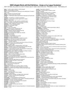 English 5000 toefl words