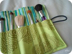 I just made a makeup brush roll, but if I do it again, I'll use this tutorial. It's cuter than the one I used.
