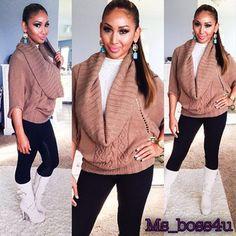 LovE her sweater <3!