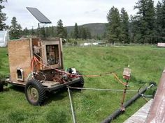Solar Powered Chicken Tractor at Crown S Ranch, Twisp Washington