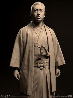 3d Character, Character Concept, Concept Art, Samurai Artwork, 3d Figures, Ghost Of Tsushima, L5r, Demon Hunter, Attack On Titan Levi
