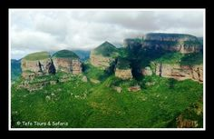 The Three Rondawels, Blyde River Canyon, Mpumalanga Province South Africa, Panorama Route.