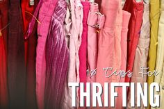 10 Tips for Thrifting- I do love me some thrift store shopping. Thrift Store Shopping, Shopping Hacks, Thrift Stores, Vintage Dresses, Vintage Outfits, Vintage Fashion, Vintage Clothing, Fashion Books, Diy Fashion