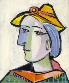 Pablo PICASSO. Marie-Therese Walter au chapeau. 1936.