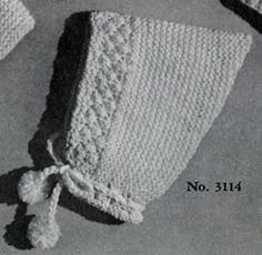 Pointed Cap knitting pattern from Lacey's Speed Knits for Tiny Tots, originally published by T.M. Lacey, Volume 31.