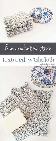 Free textured crochet washcloth pattern : FREE Textured washcloth pattern by Thoresby Cottage. Scrap Yarn Crochet, Wire Crochet, Crochet Gifts, Easy Crochet, Wire Jewelry Patterns, Knitting Patterns, Crochet Patterns, Crochet Ideas, Finger Crochet