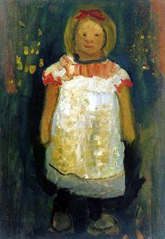 Paula Modersohn-Becker - Little girl with apron