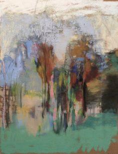 """Morning Forest. 2015-16. Pastel, Oil & Graphite. 14"""" x 11."""" Casey Klahn."""