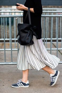 Adidas sneakers with pleated skirt