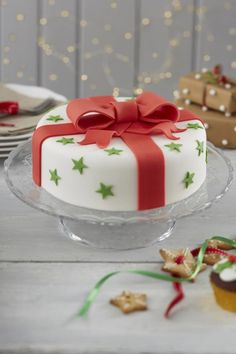 How to Make a Traditional Bow Christmas Cake #christmas #baking #traditional