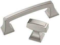 @Brandi Zetrouer Amerock Satin Nickel Cabinet Hardware Knobs / Pull