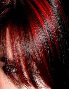 Red highlights in dark brown hair A cool choice for You