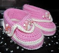 15 free baby booties crochet patterns - Crafty Tutorials