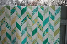 Checkerboard Herringbone in Notting HIll fabrics | leedle deedle quilts