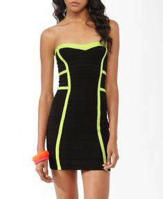 Vestido de tubo de neón Trim | Forever21 - 2021840070