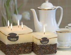 """Bougies parfumées : """"Café"""" sphère 10cm"""